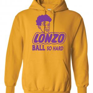 Lonzo Ball So Hard, Gold, Hoodie