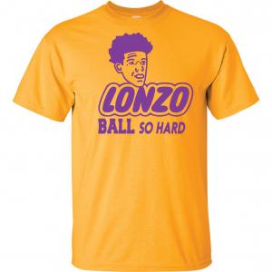 Lonzo Ball So Hard, Gold, T-Shirt