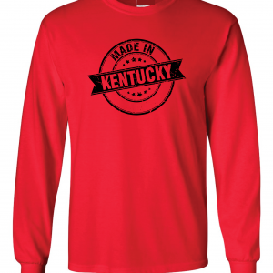 Made in Kentucky, Red, Long-Sleeved