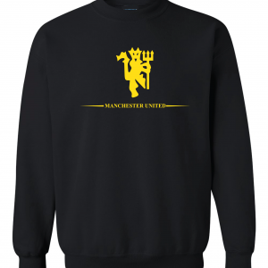 Manchester United, Black/Yellow, Crew Sweatshirt