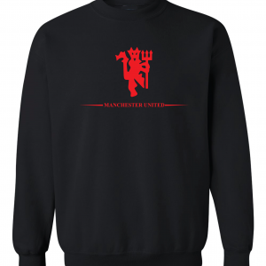 Manchester United, Black/Red, Crew Sweatshirt