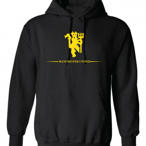 Manchester United, Black/Yellow, Hoodie
