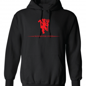 Manchester United, Black/Red, Hoodie