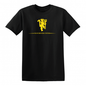 Manchester United, Black/Yellow, T-Shirt