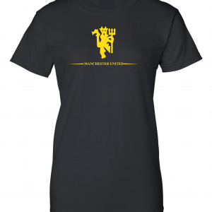 Manchester United, Black/Yellow, Women's Cut T-Shirt