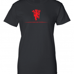 Manchester United, Black/Red, Women's Cut T-Shirt