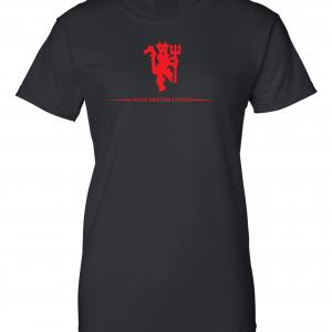 Manchester United, Black/Red, Women's Cut T-Shirt