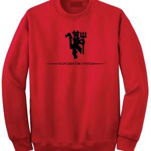 Manchester United, Red/Black, Crew Sweatshirt