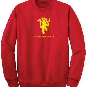 Manchester United, Red/Yellow, Crew Sweatshirt