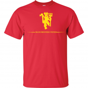 Manchester United, Red/Yellow, T-Shirt