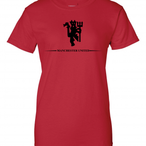 Manchester United, Red/Black, Women's Cut T-Shirt