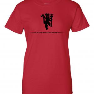 Manchester United, Red/Black, Women's Cut T-Shirt
