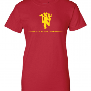 Manchester United, Red/Yellow, Women's Cut T-Shirt