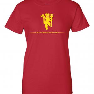 Manchester United, Red/Yellow, Women's Cut T-Shirt