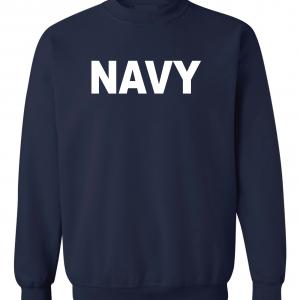 Navy, Navy/White, Crew Sweatshirt