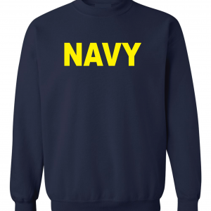 Navy, Navy/Yellow, Crew Sweatshirt
