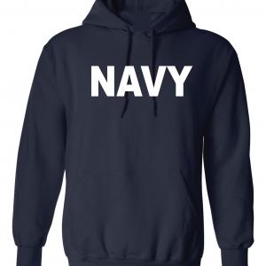 Navy, Navy/White, Hoodie