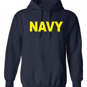 Navy, Navy/Yellow, Hoodie