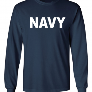 Navy, Navy/White, Long-Sleeved
