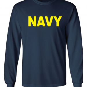 Navy, Navy/Yellow, Long-Sleeved