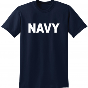Navy, Navy/White, T-Shirt