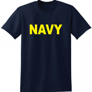 Navy, Navy/Yellow, T-Shirt