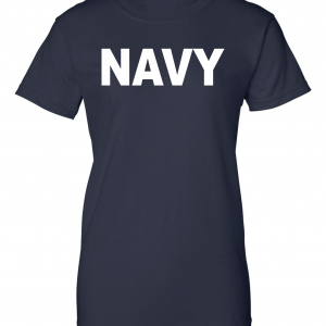 Navy, Navy/White, Women's Cut T-Shirt