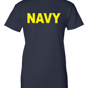 Navy, Navy/Yellow, Women's Cut T-Shirt