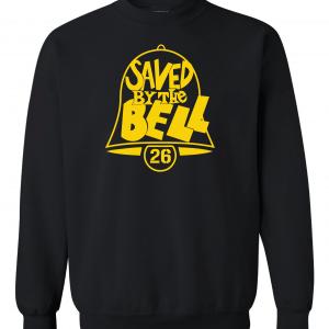 Saved by the Bell - Pittsburgh Steelers, Black, Crew Sweatshirt