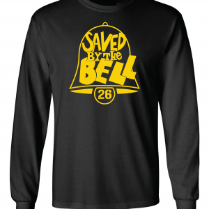Saved by the Bell - Pittsburgh Steelers, Black, Long-Sleeved