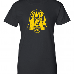 Saved by the Bell - Pittsburgh Steelers, Black, Women's Cut T-Shirt