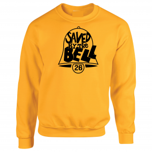 Saved by the Bell - Pittsburgh Steelers, Gold, Crew Sweatshirt