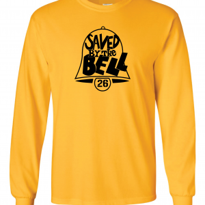 Saved by the Bell - Pittsburgh Steelers, Gold, Long-Sleeved
