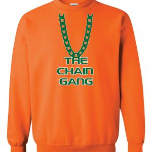 The Chain Gang - Miami Hurricanes, Orange, Crew Sweatshirt