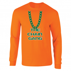 The Chain Gang - Miami Hurricanes, Orange, Long-Sleeved
