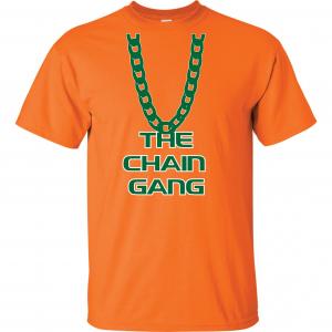 The Chain Gang - Miami Hurricanes, Orange, T-Shirt