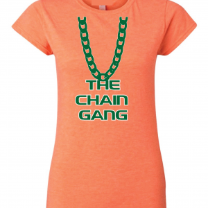 The Chain Gang - Miami Hurricanes, Orange, Women's Cut T-Shirt