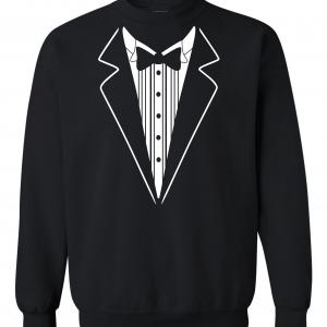 Tuxedo, Black, Crew Sweatshirt