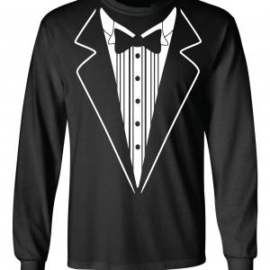 Tuxedo, Black, Long-Sleeved