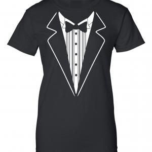 Tuxedo, Black, Women's Cut T-Shirt