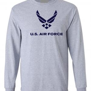 US Air Force, Grey, Long-Sleeved
