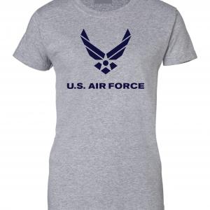 US Air Force, Grey, Women's Cut T-Shirt