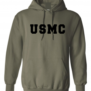 USMC - Marine Corps, Army Green/Black, Hoodie