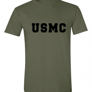 USMC - Marine Corps, Army Green/Black, T-Shirt