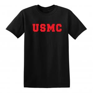 USMC - Marine Corps, Black/Red, T-Shirt