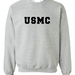 USMC - Marine Corps, Grey, Crew Sweatshirt