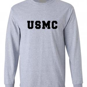 USMC - Marine Corps, Grey, Long-Sleeved