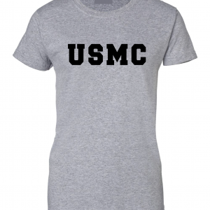 USMC - Marine Corps, Grey, Women's Cut T-Shirt