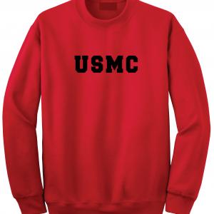 USMC - Marine Corps, Red, Crew Sweatshirt