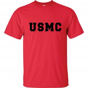 USMC - Marine Corps, Red, T-Shirt
